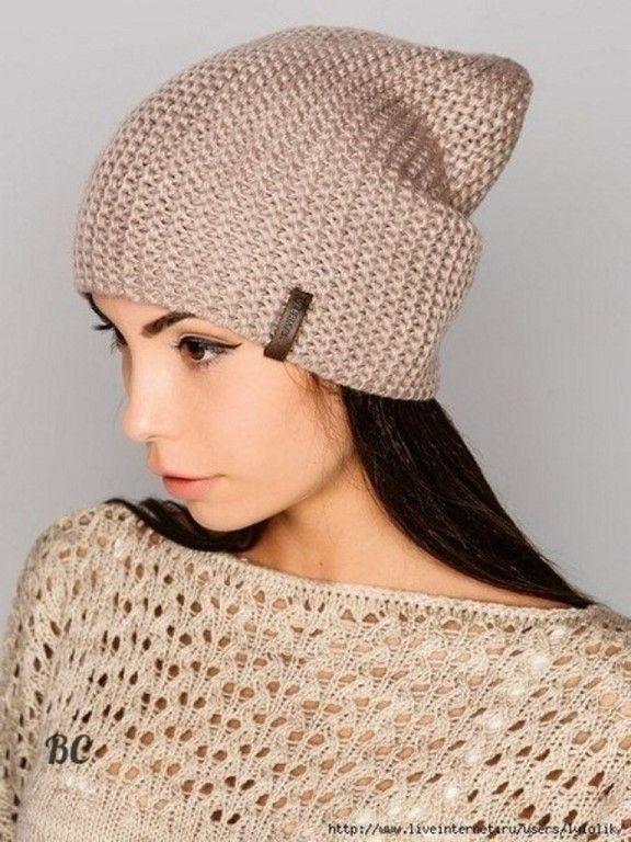 как связать шапку бини спицами молодежная шапка носок вязаная