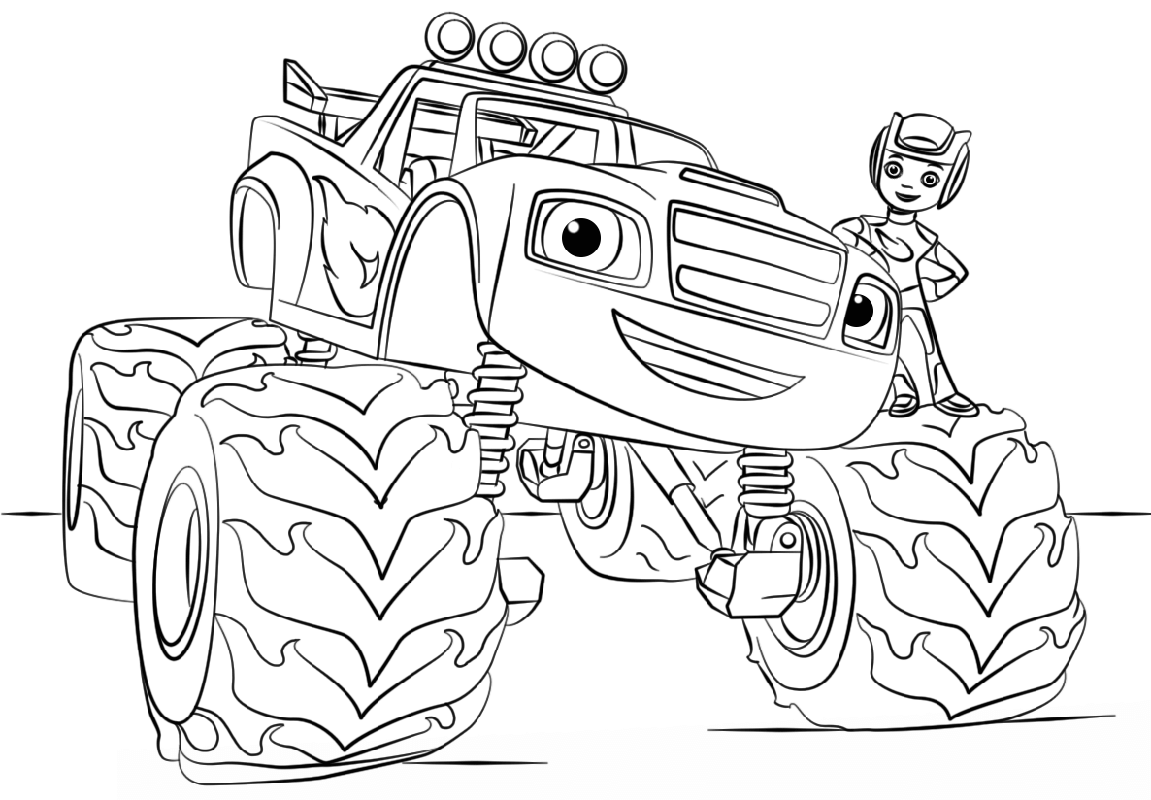 Blaze Coloring Pages For Kids 2019 Educative Printable Monster Truck Coloring Pages Truck Coloring Pages Coloring Pages