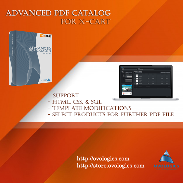 Advanced PDF Catalog for X-Cart #Extension for #X-Cart is an ...