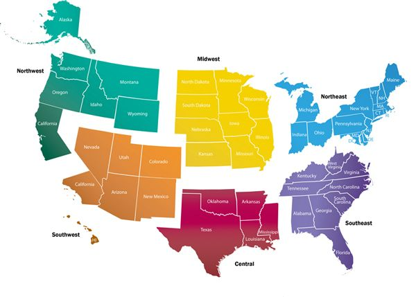 Labeled Northeast Region Map Of The United States Premier - Northern East Coast Us Map