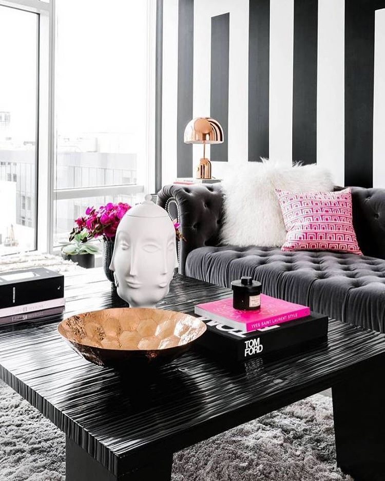 Home Decor Inspiration Sur Instagram Black And White: Bee Designs On Instagram: #LivingRoomGoals Cc: @dominomag