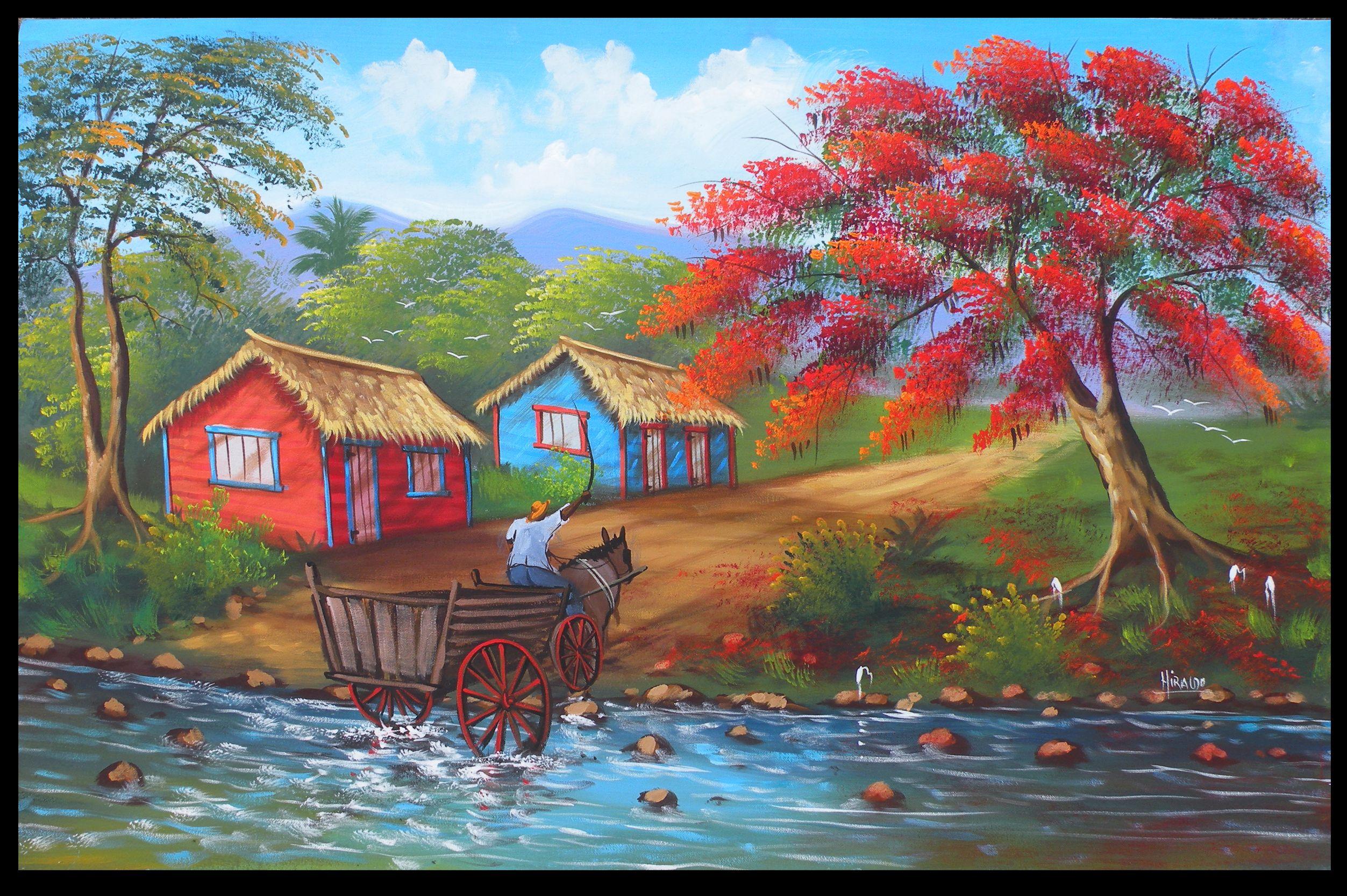 Flamboyan Iii Dibujos Pr Arte Paisajes Cuadros Pintura Arte