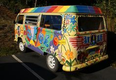 Painted VW bus - I still have enough '70's child in me to think this is so cool! : )