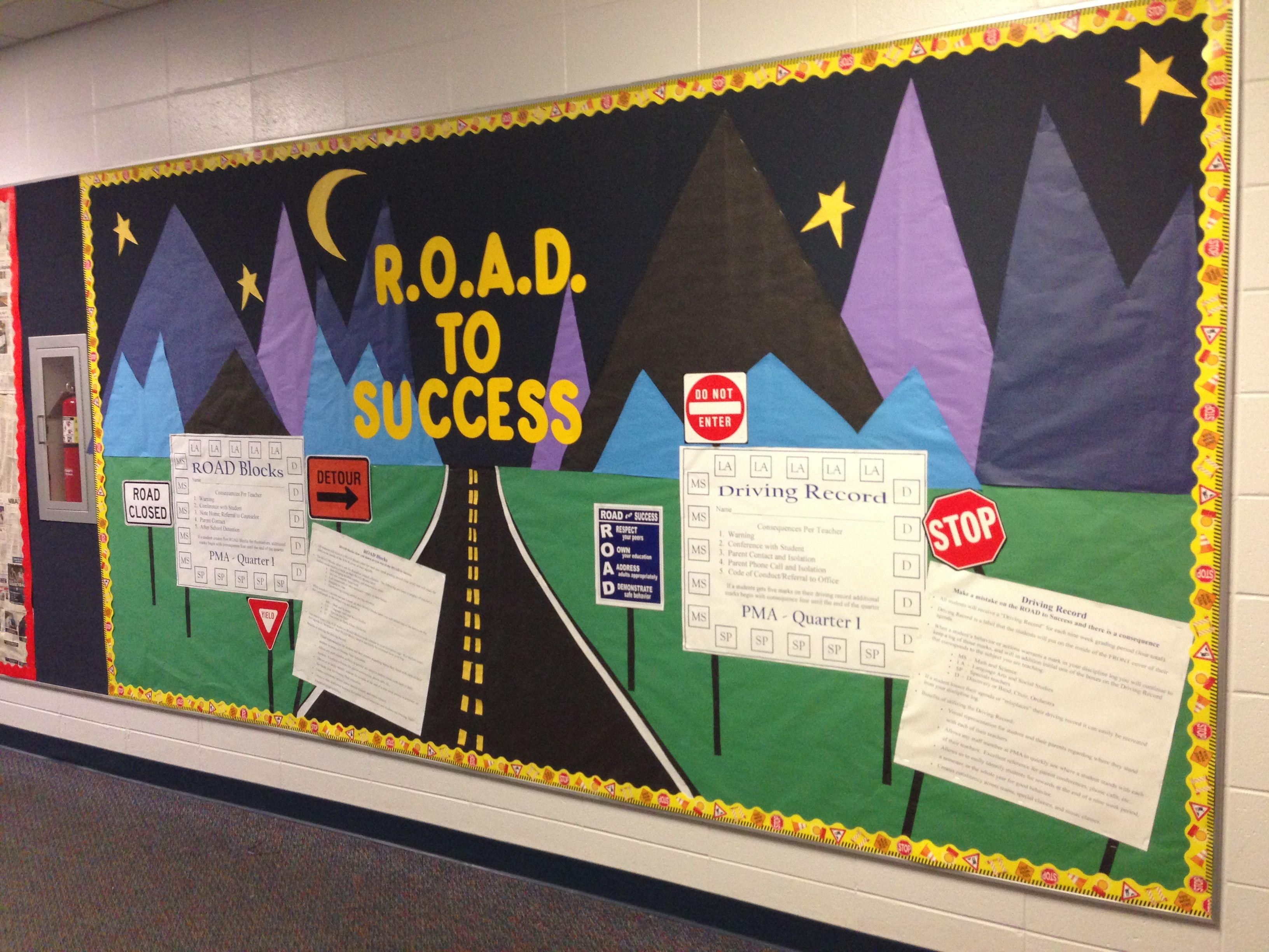 Road to Success Bulletin Board Ideas