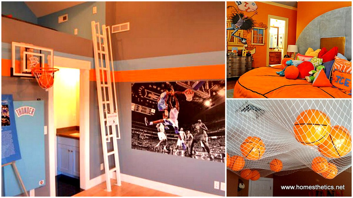 58 New Smart And Creative Hacks For Household Items Basketball Themed Bedroom Basketball Theme Room Themed Kids Room
