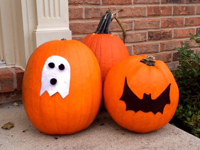 9 no-mess, no-carve pumpkin decorating ideas that are quick, cheap - easy halloween pumpkin ideas