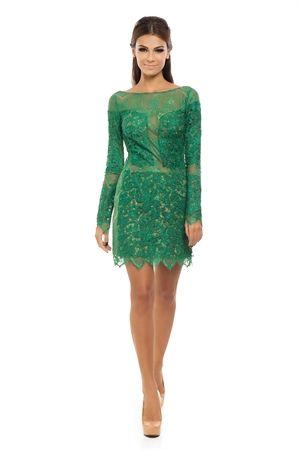 a8abdfd7eb Vestido Curto Renda Decote Costas Verde - roupas-festas-iorane -f-vestido-curto-renda-decote-costas-verde Iorane