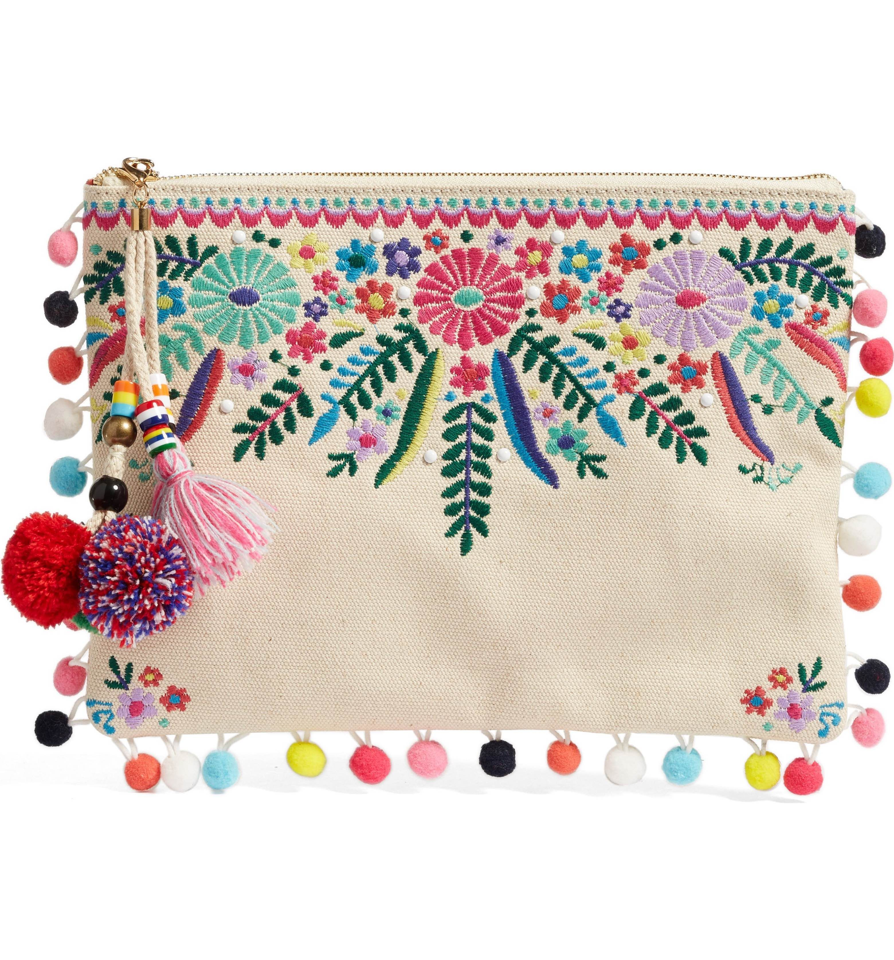 0de67a072c5 Main Image - Steven by Steve Madden Embroidered Clutch | My Style ...