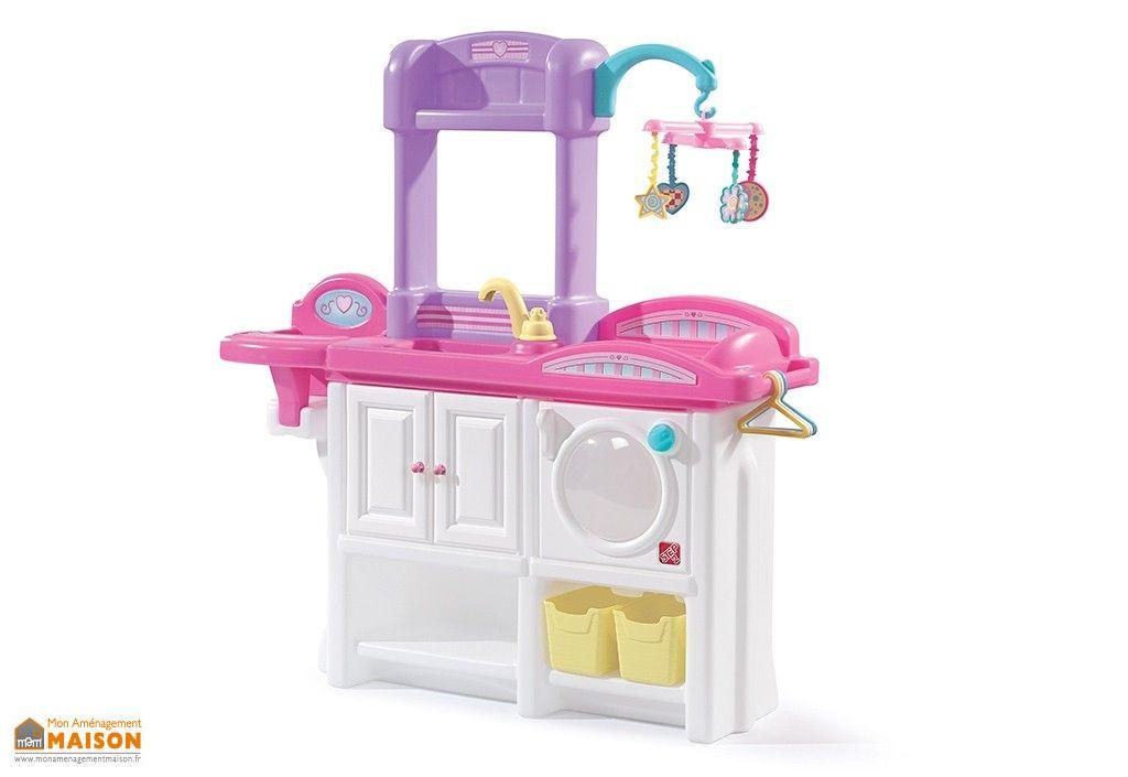 Et Langer Avec Chaise Nurserie Pour HauteBaignoire À Poupées Table TK1c5lFJ3u
