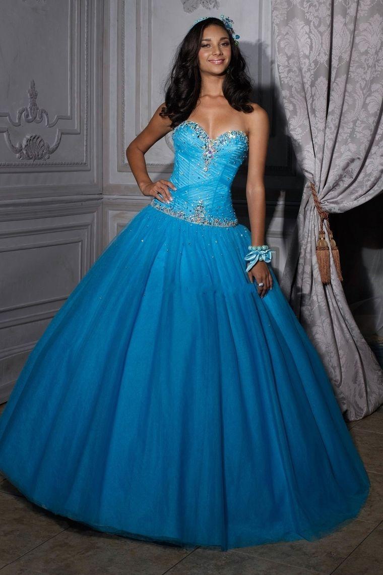 Ball Gown Sweetheart Sleeveless Floor Length Quinceanera Dresses ...