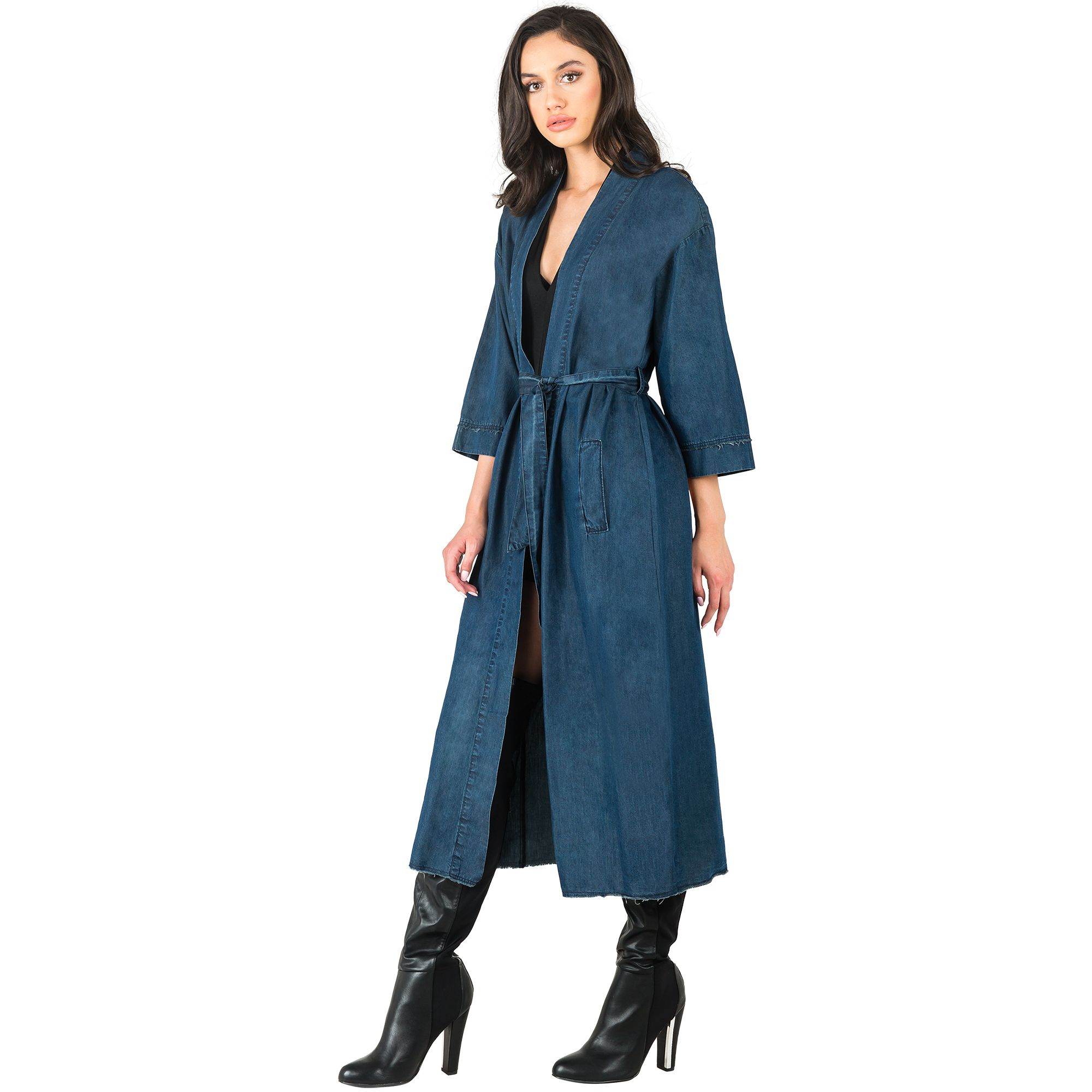 b75cdb2b023 This demin bird print duster jacket is to die for! Kimono Duster