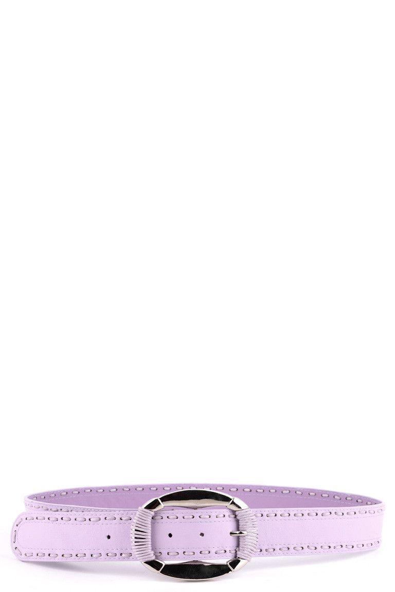 Lilac Belt With Stitch Detail