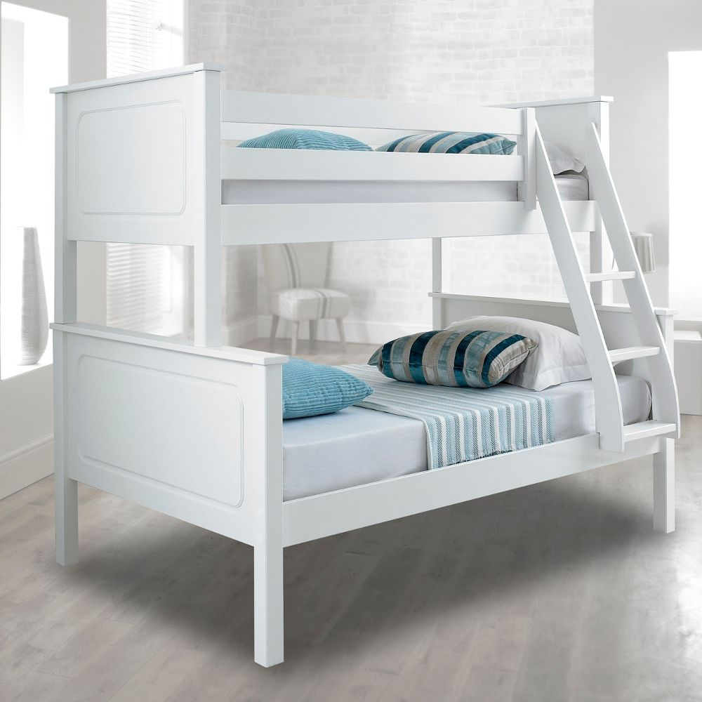 Best Vancouver White Finish Solid Pine Wooden Triple Sleeper 400 x 300