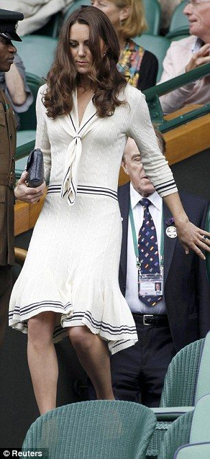 Kate Recycles Alexander Mcqueen Dress She Wore Exactly A Year Ago To The Day For Wimbledon Royal Box Visit