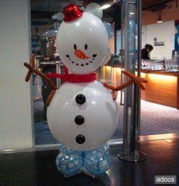 Como hacer un mu eco de nieve con globos buscar con - Como se hacen adornos navidenos ...