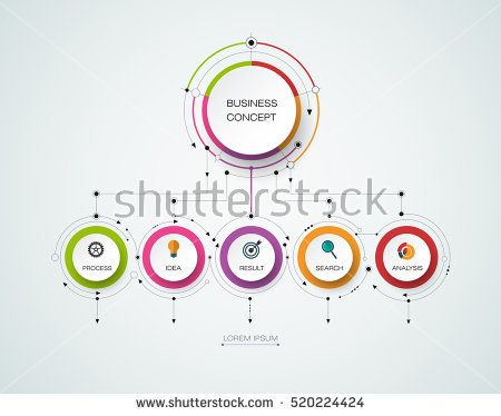 Vector infographic template with 3d paper label integrated circles vector infographic template with 3d paper label integrated circles business concept with options for content diagram flowchart steps parts fbccfo Choice Image