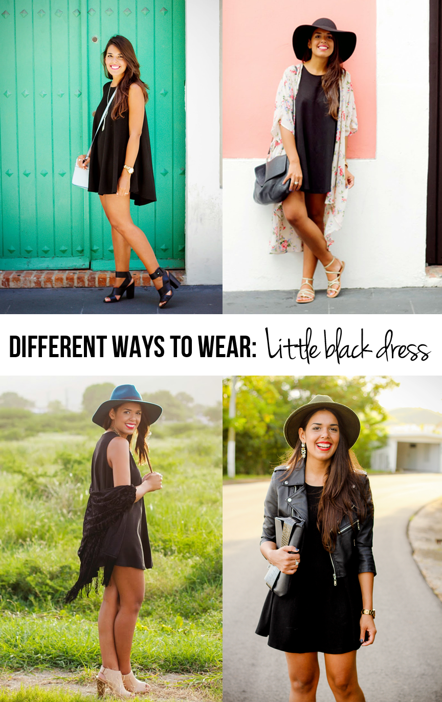 c5b05a4a8 4 Different Ways to Wear a LBD | little black dress outfits ...