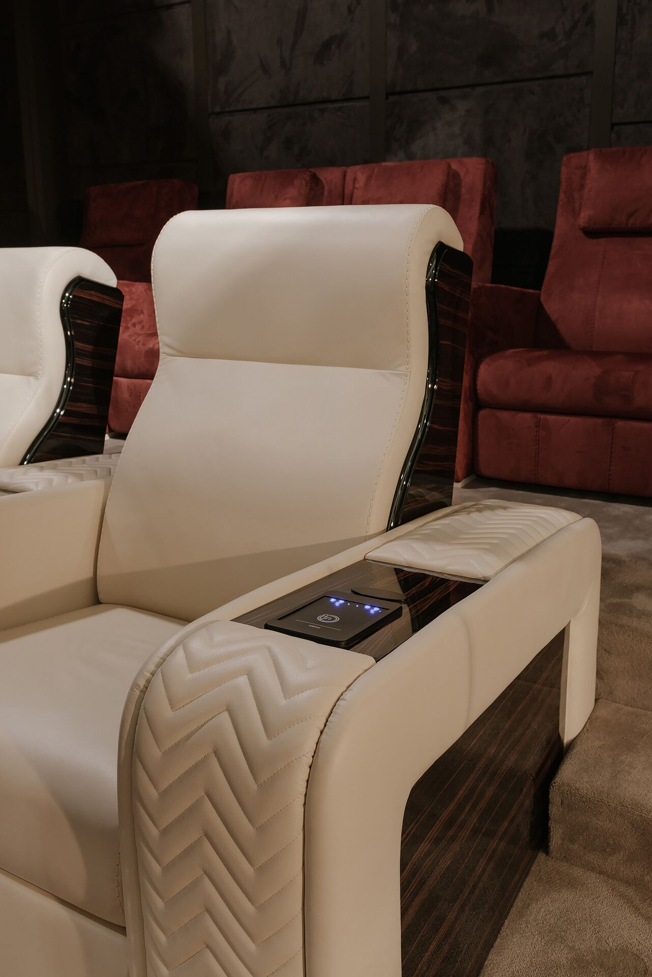 cinema seating onassis | Cinema seats, Cinema chairs, Luxury