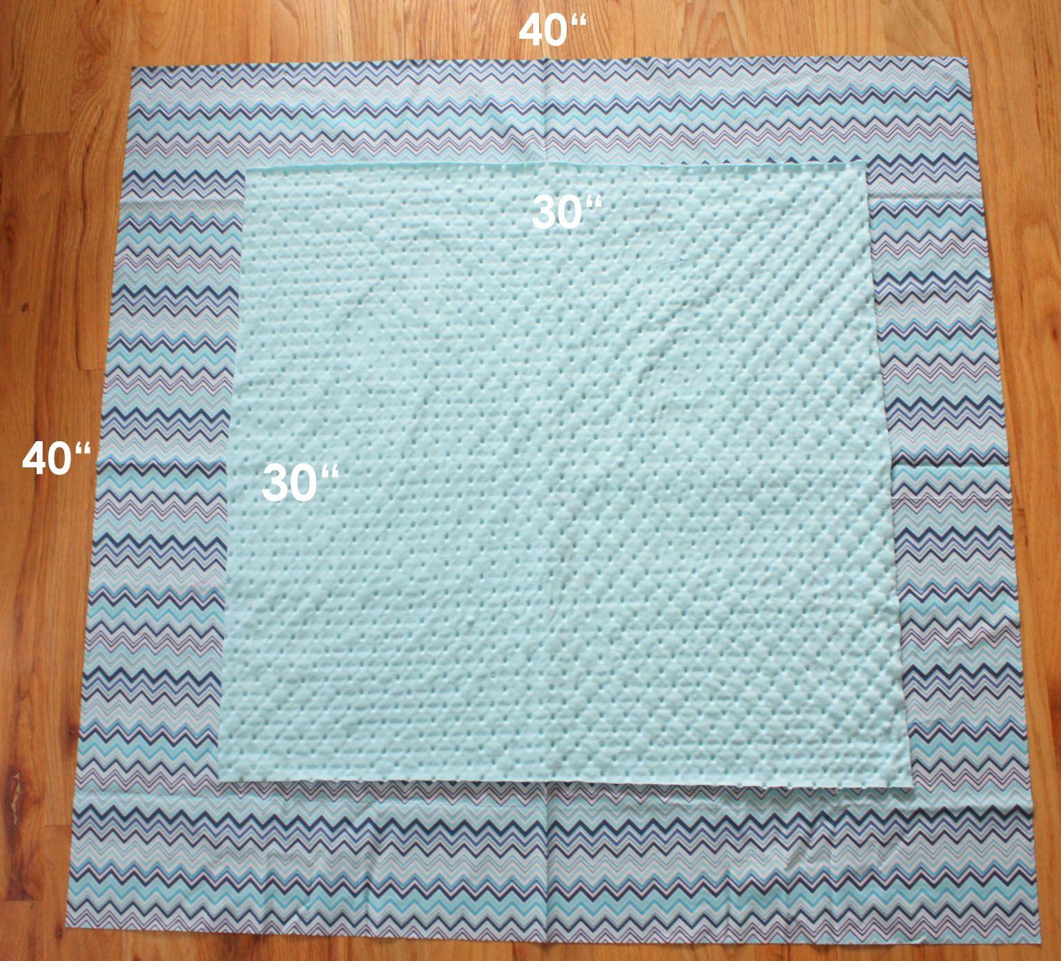 Cuddle baby or minky selfbinding receiving blanket quilting