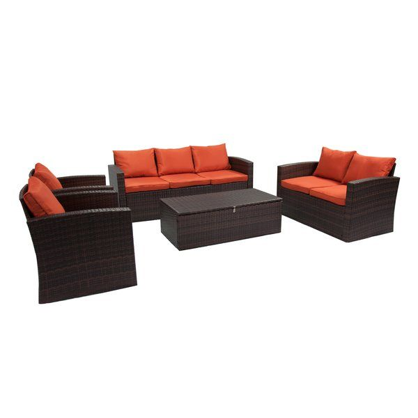 Best Arlington 5 Piece Sofa Seating Group With Cushions 400 x 300