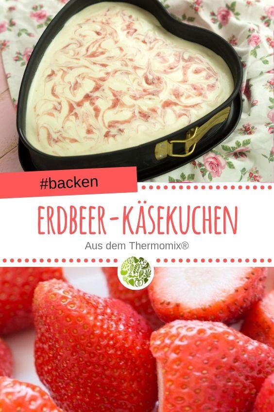 Erdbeer Kasekuchen Ohne Backen Aus Dem Thermomix Rezept Erdbeerkasekuchen Ohne Backen Thermomix Kuchen Und Thermomix Backen