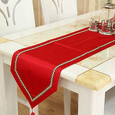 caminos de mesa clsicos rojos cad 3752