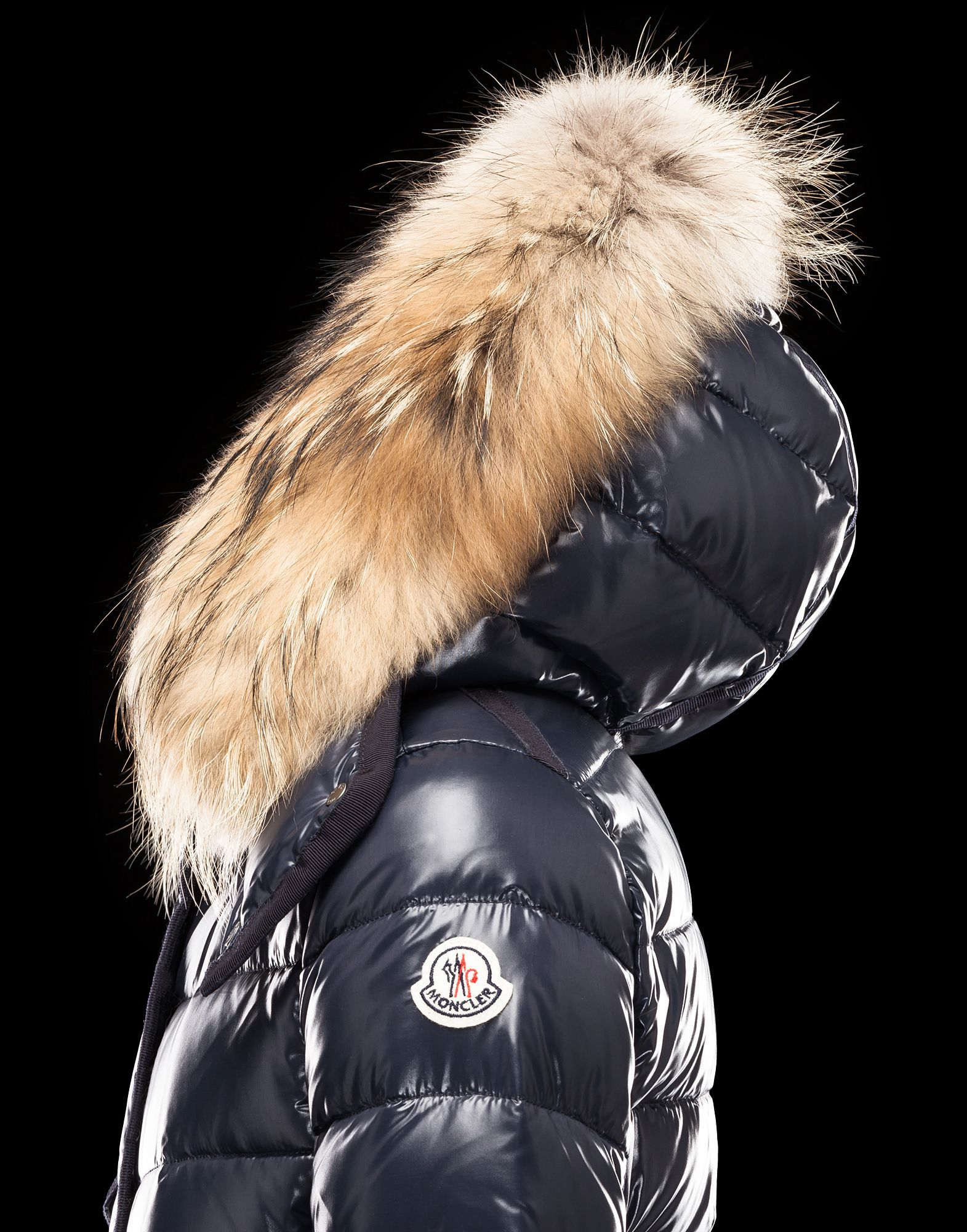 @Moncler #ARMOISE lacquered nylon, the classic Moncler fabric. Slim fit. Hood with detachable real fur. Classy!