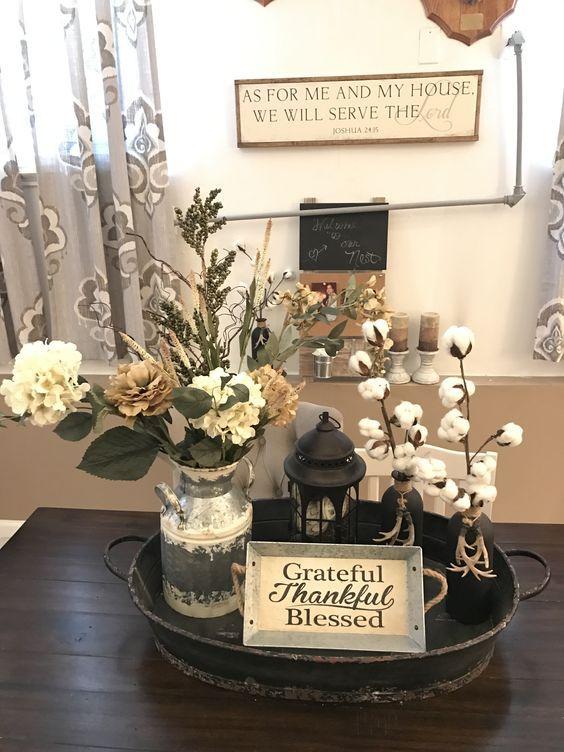 58 Easy And Beautiful Table Centerpiece Ideas Farmhouse Table