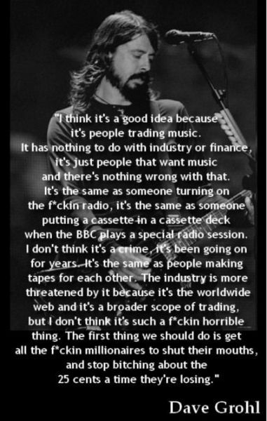 Dave Grohl is a damn poet.