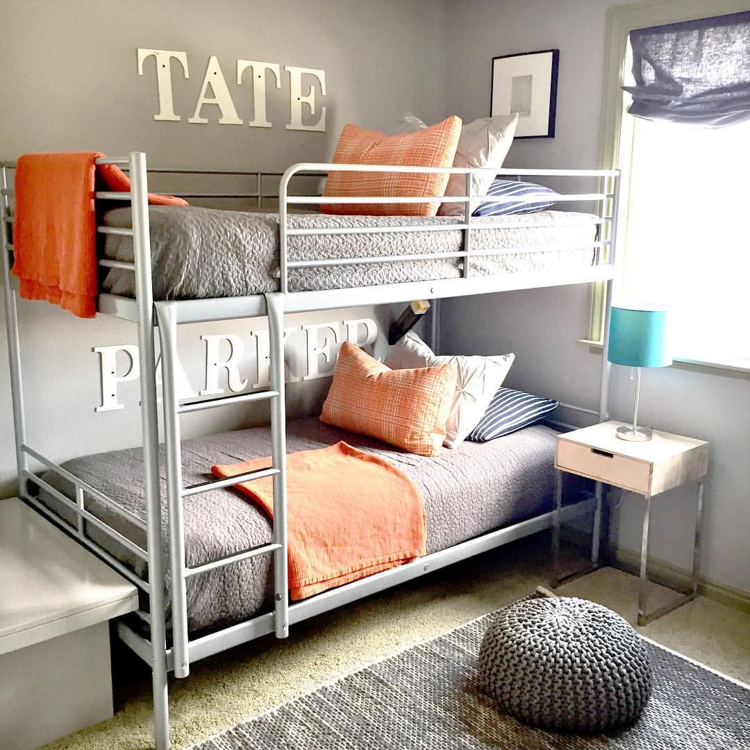 Purchased these Svarta bunk beds via IKEAthis