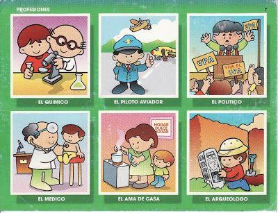 Lotto Oficios 4 1 Jpg 400 307 Preschool Theme Teaching Materials School Projects