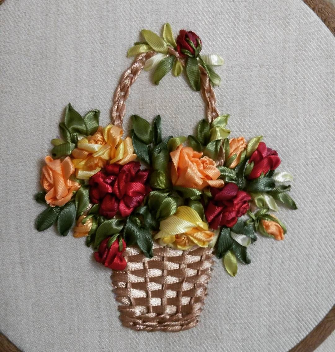 С 8 Марта! | Silk ribbon embroidery | Silk ribbon embroidery
