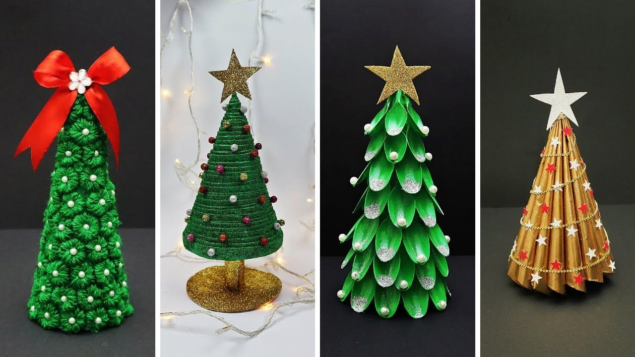 4 Easy Diy Christmas Tree Ideas Best Out Of Waste Diy Christmas Decorations Youtube Diy Christmas Tree Easy Christmas Diy Diy Christmas Ornaments
