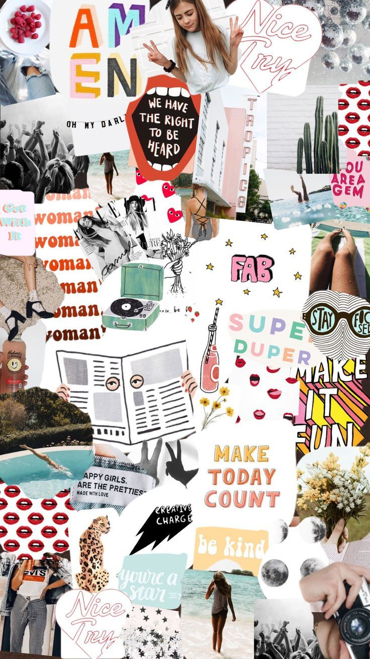 Collage Iphone Wallpaper Collage Background Aesthetic Iphone Wallpaper