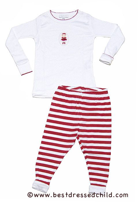 283486920 Magnolia Baby   Toddler Girls Red Striped Christmas Pajamas - Santa ...