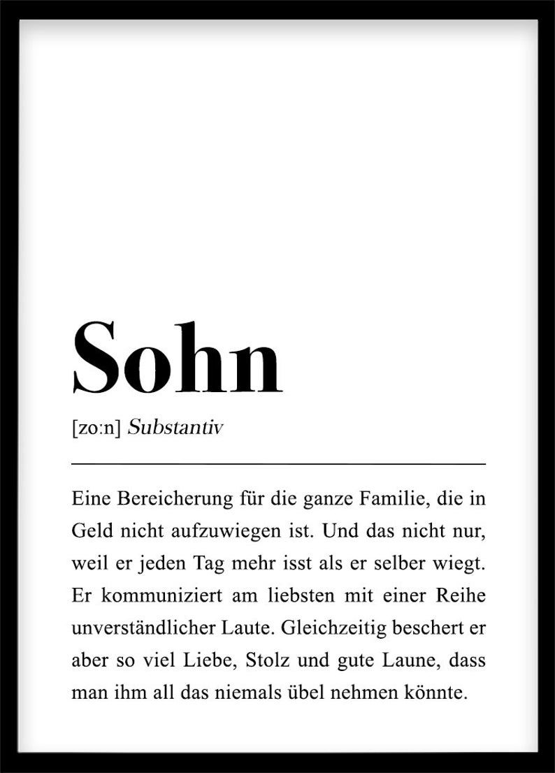 """This is a German definition of the word """"son"""""""