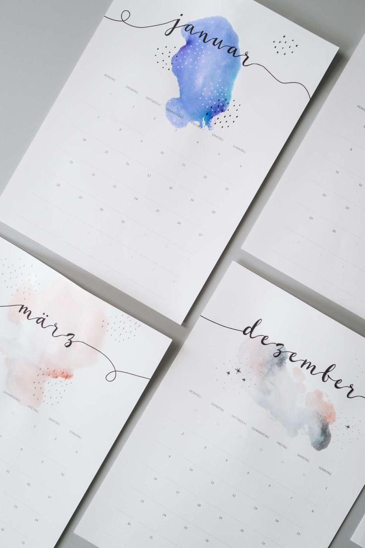 freebie minimalistischer kalender 2019 diy freebies. Black Bedroom Furniture Sets. Home Design Ideas