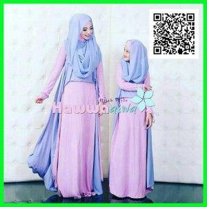 Gamis Couple Syar I Mom Kid Hawwa Aiwa Mtfm18 2 Baju Gamis Syar I