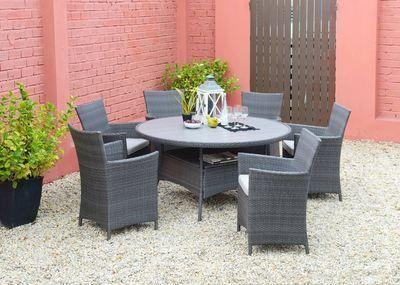 Lifestyle Garden Andaman 6 Seat 144cm Table Garden Furniture Set ...