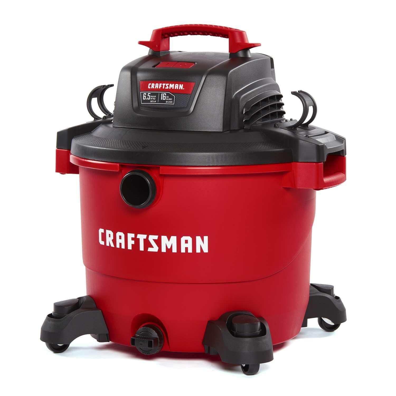 Craftsman 16 Gal Corded Wet Dry Vacuum 12 Amps 120 Volt 6 5 Hp Red 27 Lb In 2020 Wet Dry Vac Wet Dry Vacuum Shop Vacuum