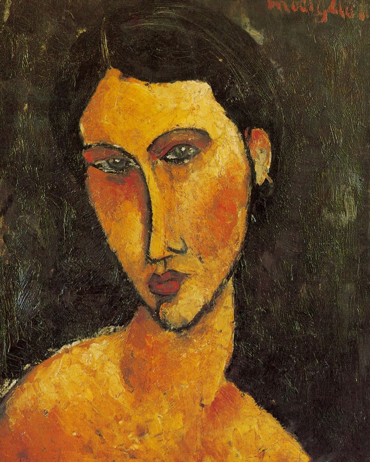 Souvent Amedeo Modigliani - Jeune femme aux yeux bleus | Amedeo Modigliani  LK19