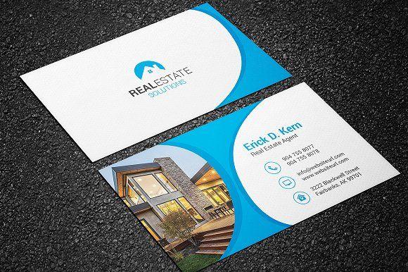 Real Estate Business Card Real Estate Business Cards Business Cards Creative Business Card Template Design
