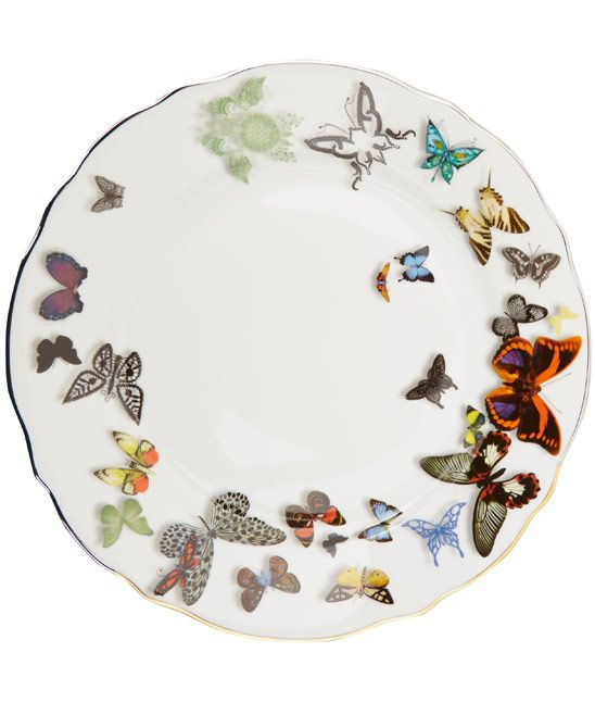 Christian Lacroix White Butterfly China Dinner Plate  sc 1 st  Pinterest & Christian Lacroix White Butterfly China Dinner Plate | China ...