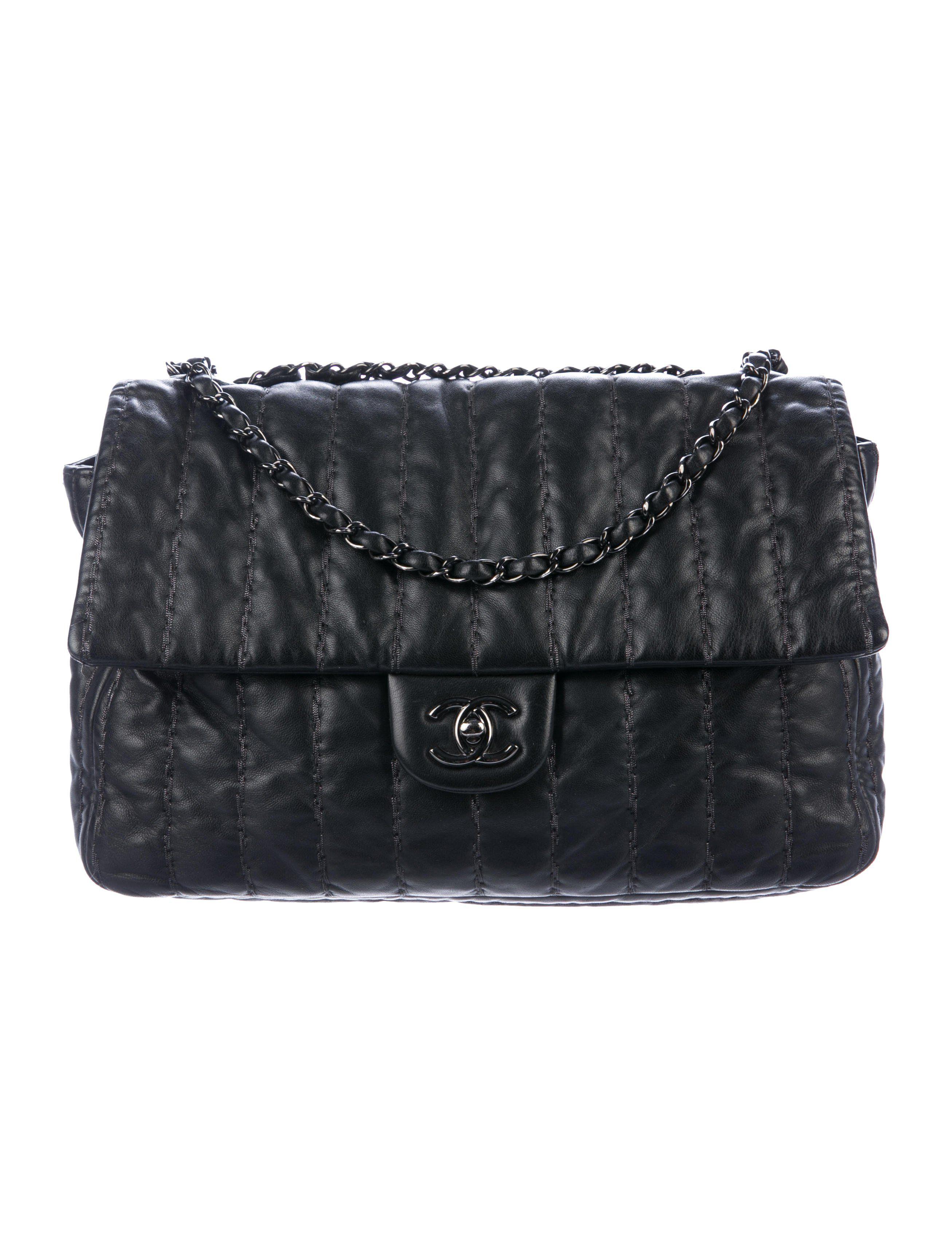 Vertical Stitch Jumbo Flap Bag Flap bag, Bags, Shoulder bag