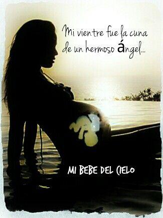 Mi Vientre Mi Bebe Del Cielo Pinterest