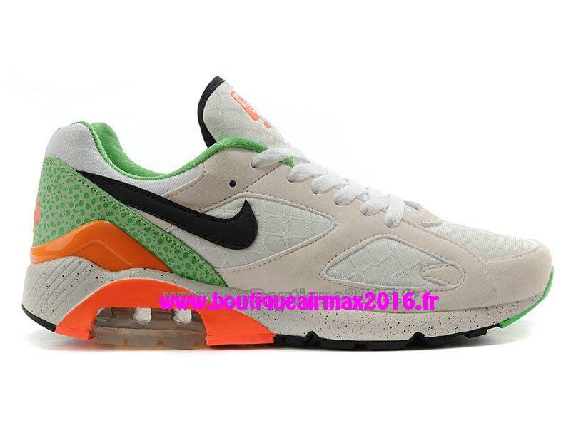 Nike Air Max 180 QS Chaussures Nike Pas Cher Pour Homme Blanc/Vert ...