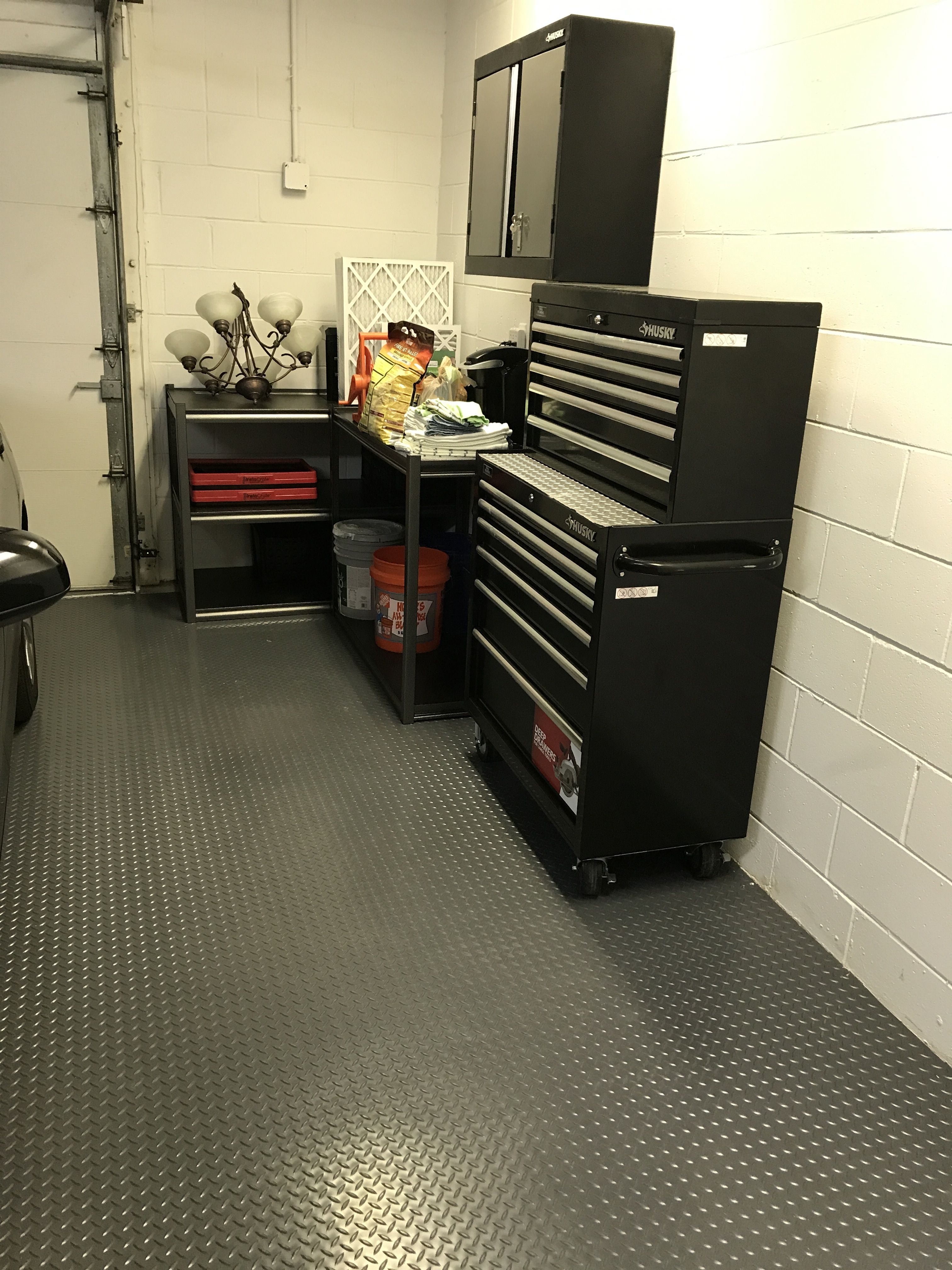 Costco Rubber Garage Floor Mats With Diamond Pattern Much Cheaper Than Epoxy Rubber Flooring Rubber Flooring Kitchen Rubber Floor Mats