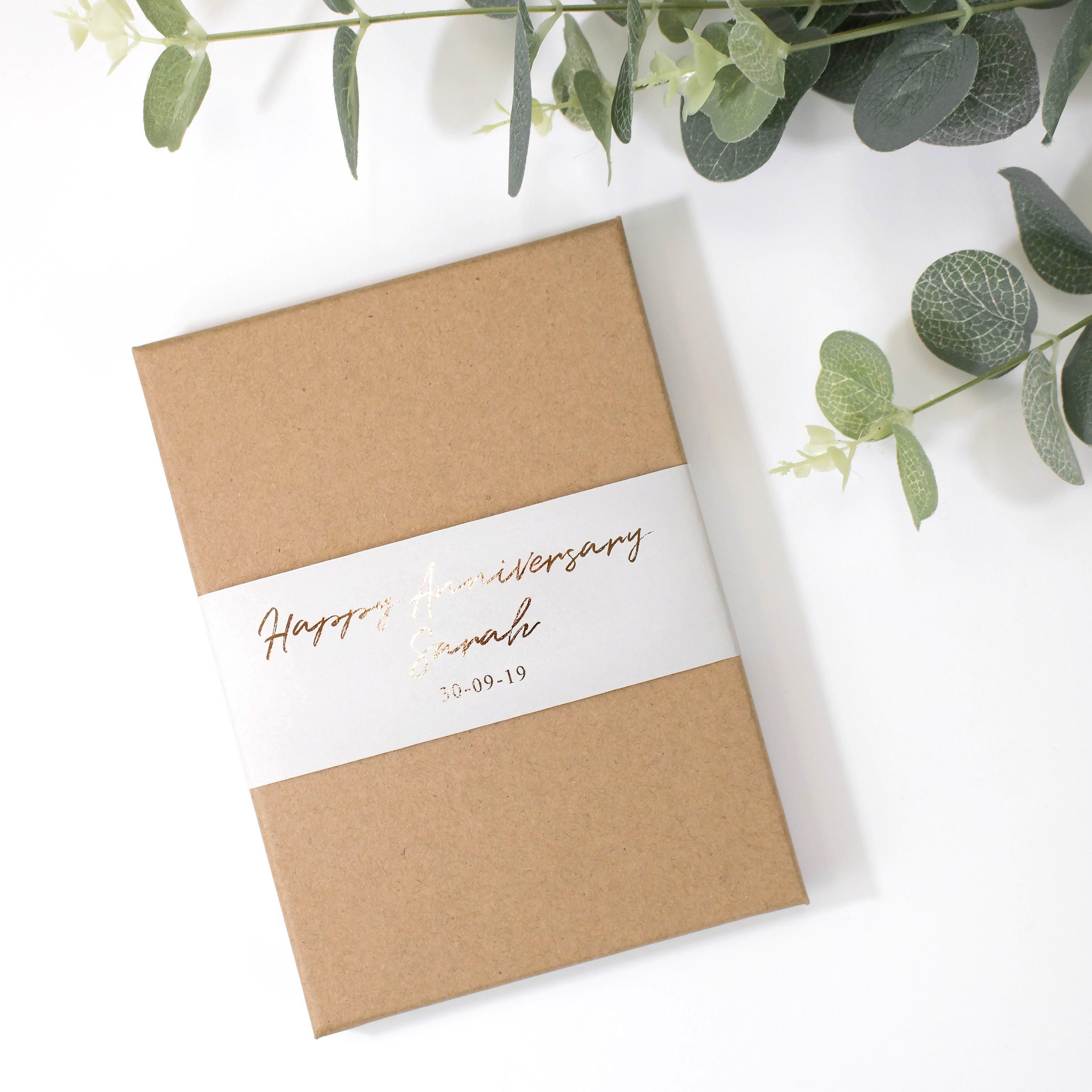 Anniversary card for husband soulmate card in gift box