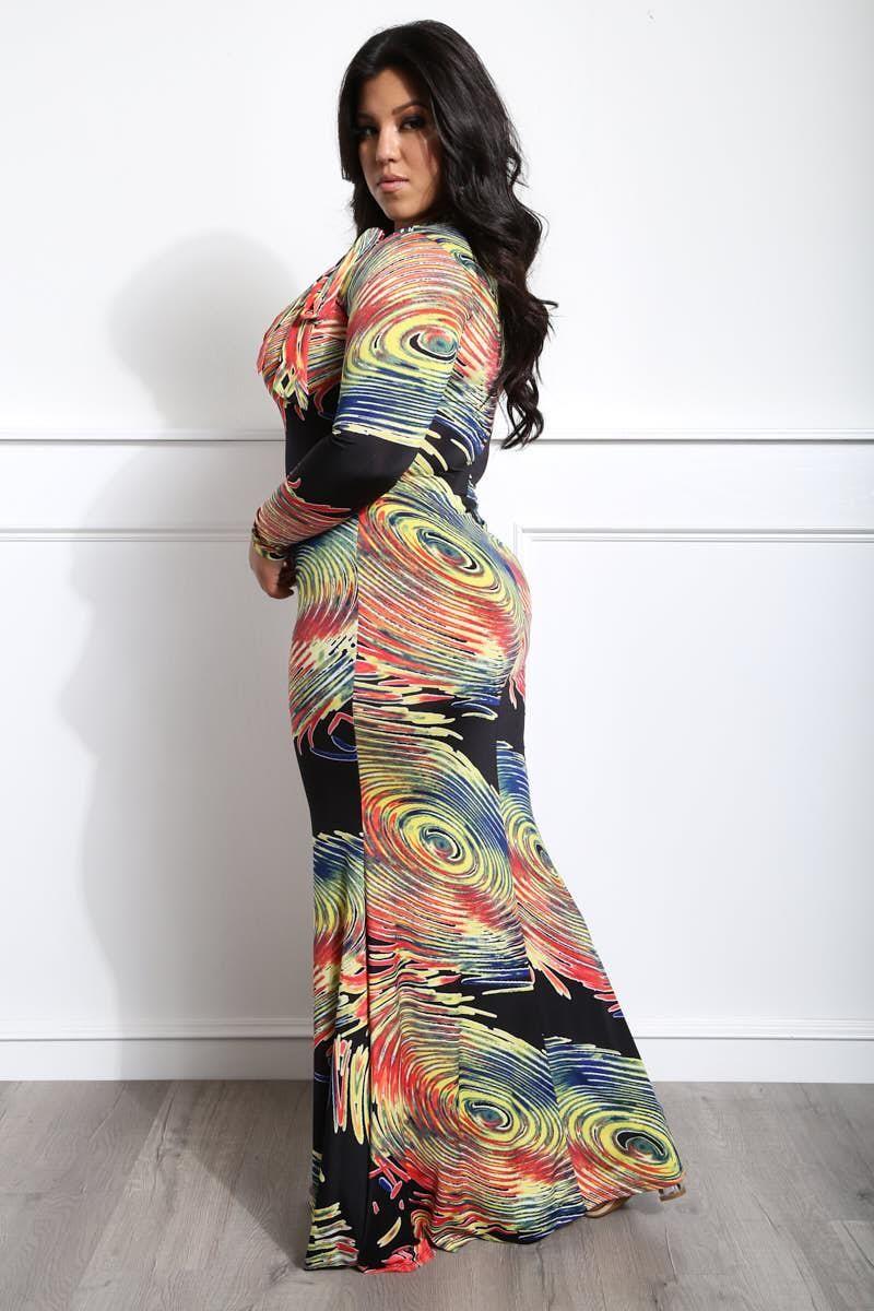 Girl Galaxy Plus Size Maxi Dress | Fashion in 2019 | Junior ...