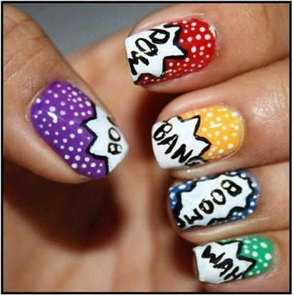 Simple Nail Art Design Step By Step Process For Creating Comic